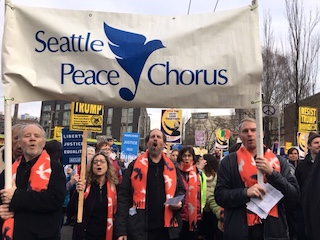 Peace Chorus carries banner in MLK march