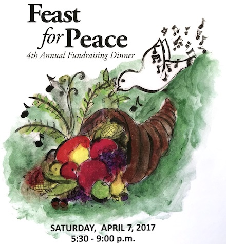 Feast for Peace, Saturday 7 April 2018 – 5:30 – 9:00 pm