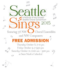 Seattle Sings 2015 poster